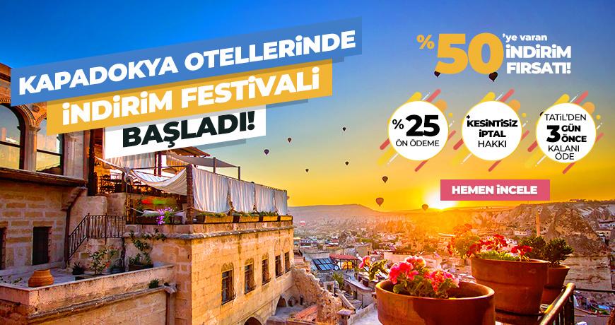 Kapadokya Otellerinde İndirim Festivali Başladı!